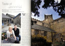 Cartmel feature for 'Lancashire Magazine'. Main pictures shows David and Kelly Unsworth in 'Unsworth's Yard' and Cartmel Priory. June 2011.
