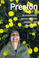 Artist Rebecca Chesney on the front cover of 'Live Preston' magazine. June 2011.