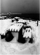 Seaside Snow, Morecambe, England.