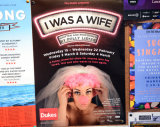 'I Was A Wife' by Polly Lister. Theatre poster. 2017.