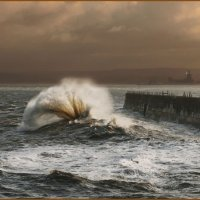 Breakers at Hartlepool Headland