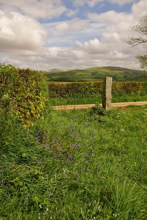 Milestone and view near Tavistock May 2018