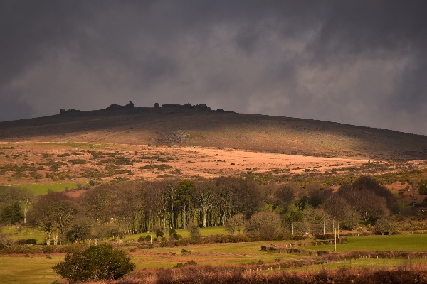 View to Cox tor from Plasterdown December 2017