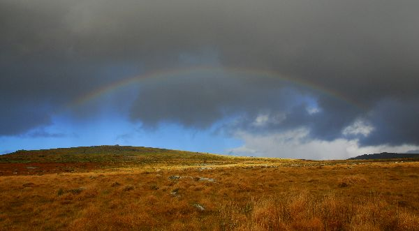 Rainbow near Vixen Tor November 2012