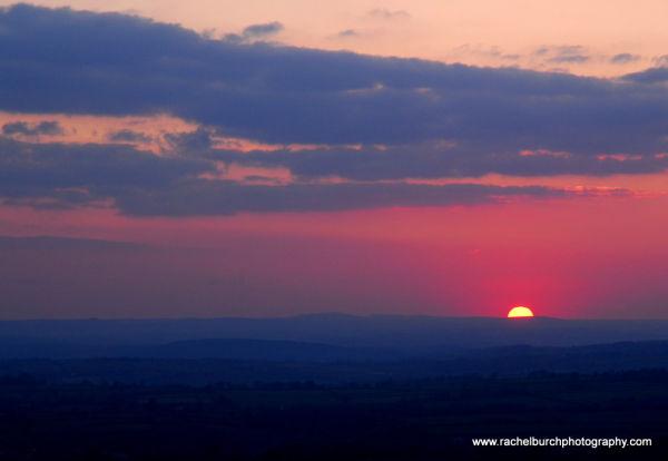 Sunset from Cox Tor Dartmoor