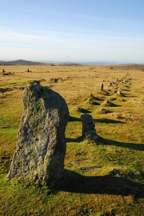 Stone row, Merrivale