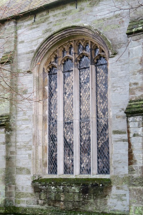 Window in Tavistock church, January 2016.