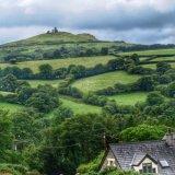 View of Brent Tor church Dartmoor, August 2015