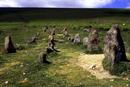 The graveyard stone row, cawsand beacon, Dartmoor.