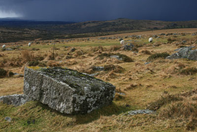 Storm over Merrivale Dartmoor