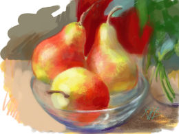 Still life, pears