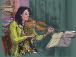 Quartet rehearsal, viola