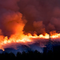 BRUSH FIRE ON HILLS
