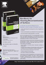 Flier publicising the Handbook of Cleaning/Decontamination of Surfaces