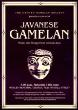 Poster for concert of music from Java