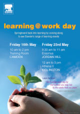 Poster promoting the Learning at Work initiative