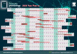 A wallplanner promoting the Neuropharmacology journal