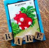 Rare Radish seed packet