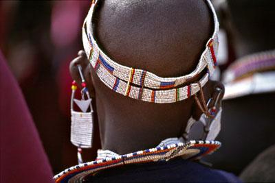 Masai head decoration, Tanzania