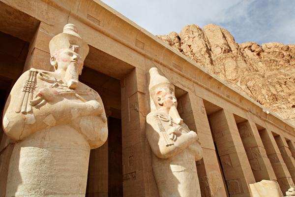 Statues of pharaohs, Hatshepsut Temple, Luxor