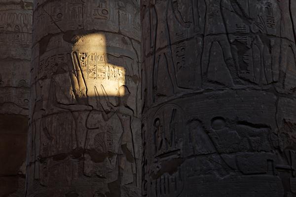 Last sun ray, Karnak temple, Luxor