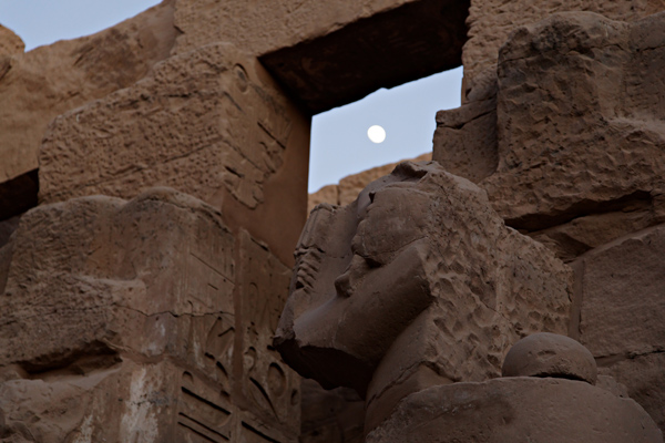 Moon shine, Karnak temple, Luxor