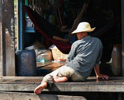 Lakeside dwelling, Tonle Sap