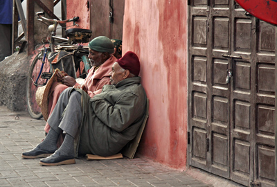 Idle men, Marrakech