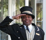 Hotel doorman, Cape Town, South Africa