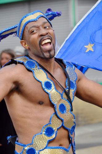 Blue & gold dancer