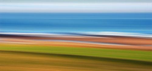 Fields, beach, sea & sky