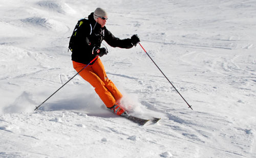 In control on the piste