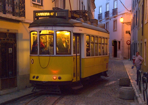 The evening tram