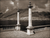 Columns at Villa Melzi