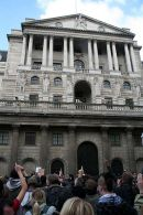 Fingers pointing at Bank of England