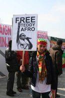 Teddy Afro placard
