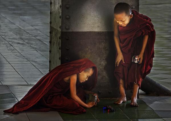 Boy Monks at Play