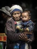 Naxi Woman In Moiurning