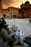 The main square in Dubrovnik, Croatia. 2002.