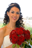 Paula looked grand when she danced with the Riverdance troupe - but she looks even better on her wedding day.