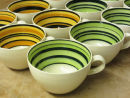 Striped coffee cups