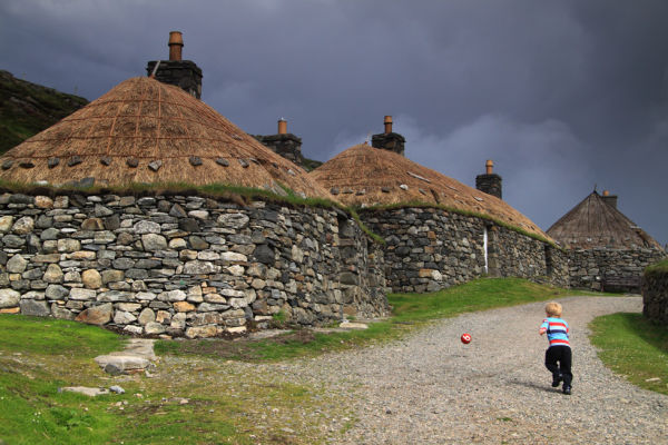 Blackhouses at Gearrannan, Lewis.