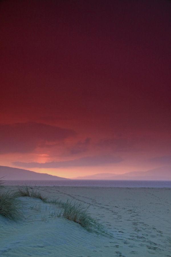 Sunset on the beach at Luskentyre.