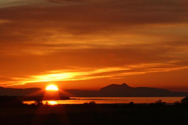 Sunset with Edinburgh in Background