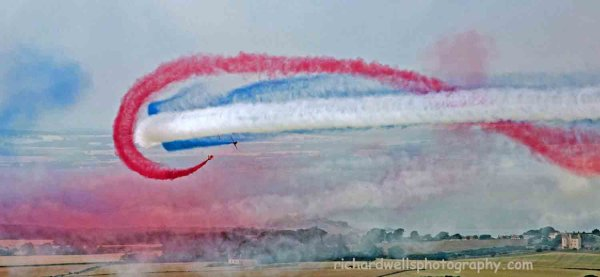 Red arrows in colour…over Archie's castle