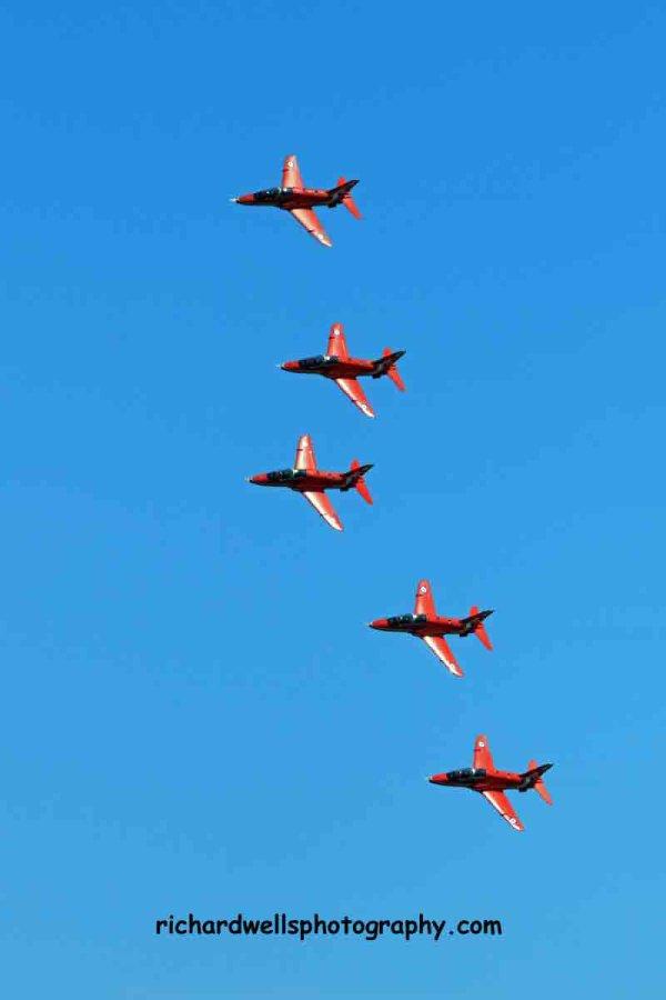 Red Arrows Flypast