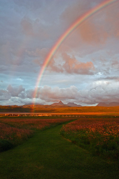 Achnahaird Bay, Stac Pollaidh and Rainbow, Wester Ross