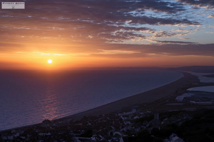 Sunset over Chesil Beach