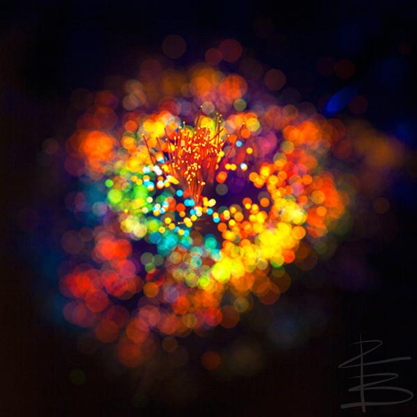 Like stars burning holes right through the dark