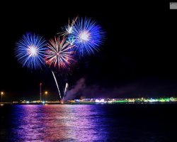 Fireworks over Weymouth Bay